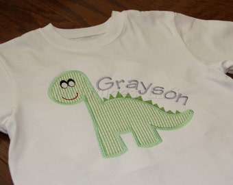 Boys Dinosaur Applique Shirt