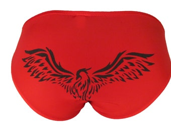 Men's Underwear, Bikini, Printed Underwear, Phoenix Bird Design