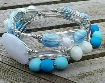 UNC wire wrapped bangles