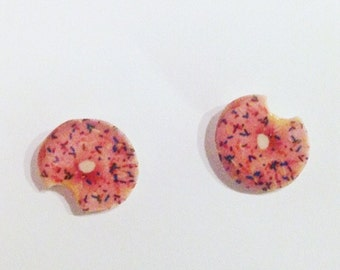 Pink Donut Studs