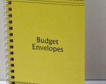 Vintage Style Budget Envelopes Yellow cover