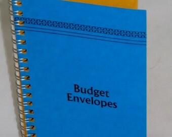 Vintage Style Budget Envelopes Blue Cover