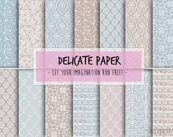 Digital Craft Paper - Baroque pattern pack printable digital download for scrapbooking - Craft Sheets - Baroque clip art