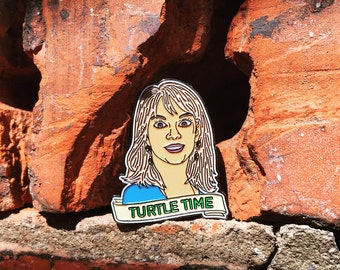 Turtle Time - Ramona Singer / Real House Wives Soft Enamel Pin