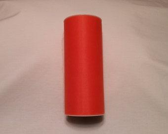 Orange Tulle, Orange Tulle Roll, Orange Tulle 25 yards, 6 inch tulle, 6 inch tulle roll, Tulle, Tulle Fabric, Tutu Tulle, Wedding Tulle