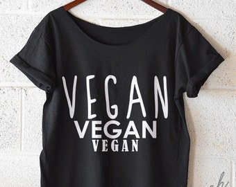 FREE SHIPPING, VEGAN, Hipster Tshirt, Hipster Shirt, Off Shoulder Shirt, Slouchy Shirt (women, teen girls) s-xxl