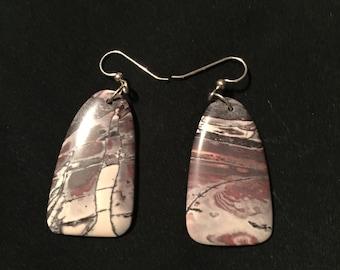 Porcelain jasper earrings