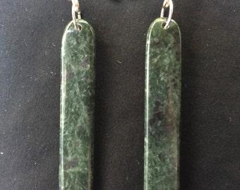 Serpintine earrings