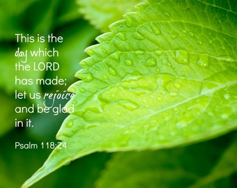 Christian wall art, Psalm 118 Bible verse, Scripture photograph