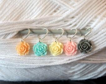 Snag Free Knitting Stitch Markers - Bundle of Roses