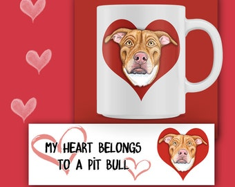 PIT BULL MUG, Pit Bull Coffee mug, Pit Bull Gift, Pit Bull Lover, Pit Bull Rescue