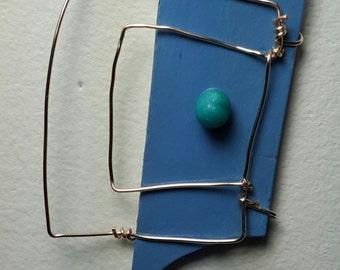 Blue 80s Deco Miniature MAGNET