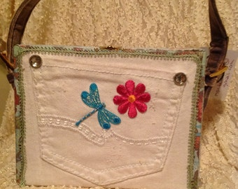 Dragonfly cigar box purse