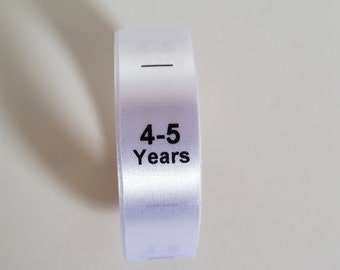 4-5 yrs size labels. Kids Clothing Tags