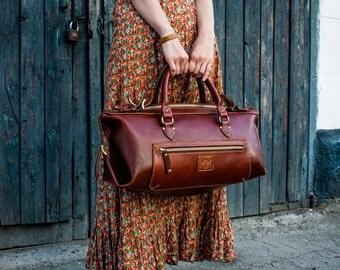 Leather Bag, Travel bag, Hand Stiched, duffel bag, Extra large bag, Custom size travel bag.