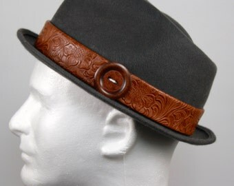 Dark Grey Fur Felt Fedora Hat