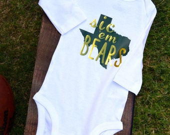 Just the Iron on | Baylor University | Sic Em Bears  | DIY Iron on decal for onesies or toddler shirts