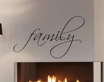 Family Vinyl Wall Decal - Home Decor Vinyl Decals *Choose size & color* Family Wall Sticker Wall Decals