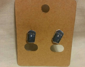 Tardis insiped Earrings