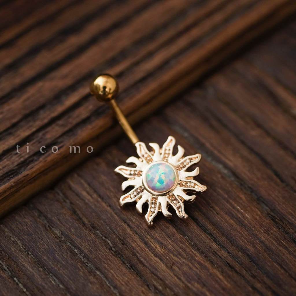 belly ring belly button ring belly button jewelry sun by ...