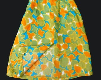 70's  Floral Skirt New Old Stock British Made Size 6-8 Years