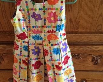 Girls size 8 summer sleeveless dress.