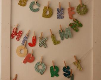 Fabric Alphabet Letters