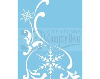 Stencil - Corner Snowflake - ST-001