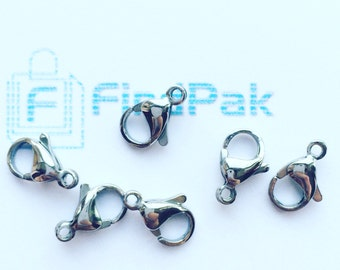 100 Pcs Stainless Steel Lobster Clasp 13 x 8 mm | 2-SS