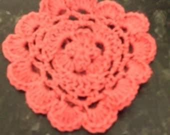 crochet flower table coasters