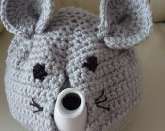 crochet mouse tea cosy