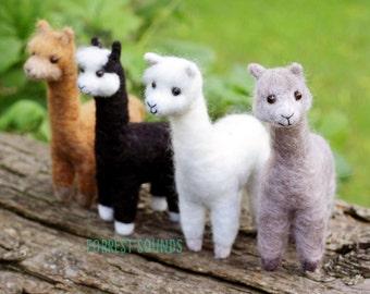 Alpaca - Cute needlefelt farmyard friends