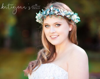 "The ""Innocence"" Baby Blue Flower Crown"