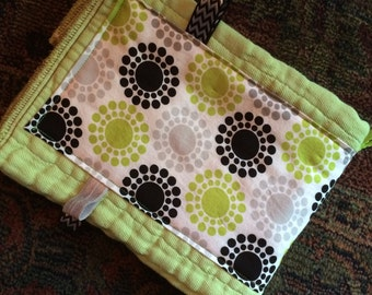 Green burp cloth