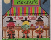 """Spell Casters """"The Happiest Hour"""" Halloween/Fall Hand-painted Needlepoint Canvas"""