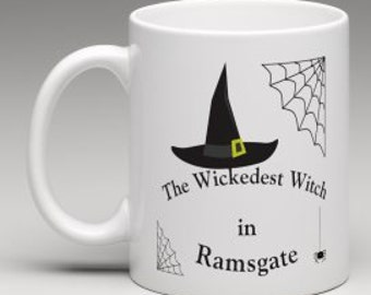 The Wickedest Witch mug, Witch mug gift, Wicked stepmother witch, Coven gifts, birthday gifts for her,  gift for halloween, witch gifts