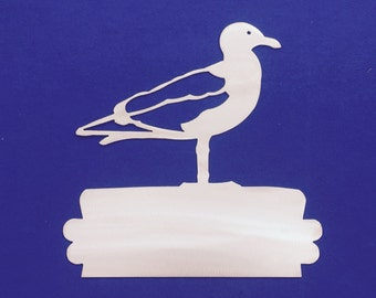 Seagull Metal Wall Art Ocean Nautical Marine Sea Life Beach House Home Decor