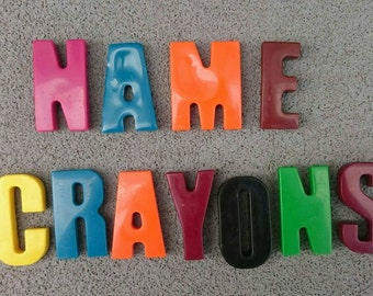 Letter / name crayons
