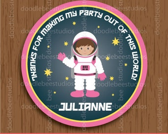 Outer Space Favor Tags,  Astronaut Favor Tags, Astronaut Labels, Outer Space Labels, Space Party Tags, Outer Space Printables