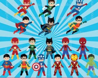 Superheroes Clipart, Superhero Clip Art, All Boys Superheroes, Superhero Background, Digital Superheroes