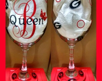 Gooooooo Dawgs! FABULOUS UGA wine glass!!!!