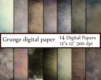 """Grunge texture Paper: """"GRUNGE DIGITAL PAPER"""" Rustic digital paper distressed paper Vintage digital paper shabby textures Grunge Feel paper"""