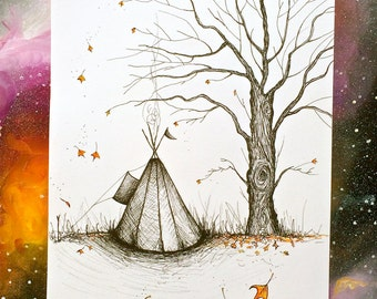 Happy Autumn! - Tipi Illustration