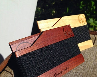 Minimalist Wood Wallet / Slim Cherry or Maple Wallet