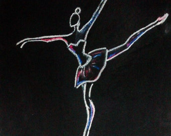 Ballet dancer-canvas art