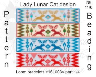 Christmas loom patterns, Deer loom patterns, Bracelets patterns, Winter patterns, Seed bead patterns, Deer patterns, Seed bead patterns