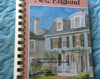 A Taste of New England | Recipes from the Heart of New England |  Vintage Cookbook  | Junior League of Worcester Massachusetts 1990