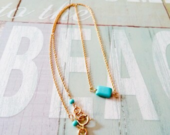 Sleeping beauty turquoise Necklace, beach style necklace,