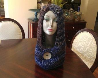 Womens Winter Crochet Hoodie/Cowl