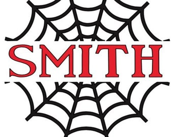 Spider Web Vinyl Decal